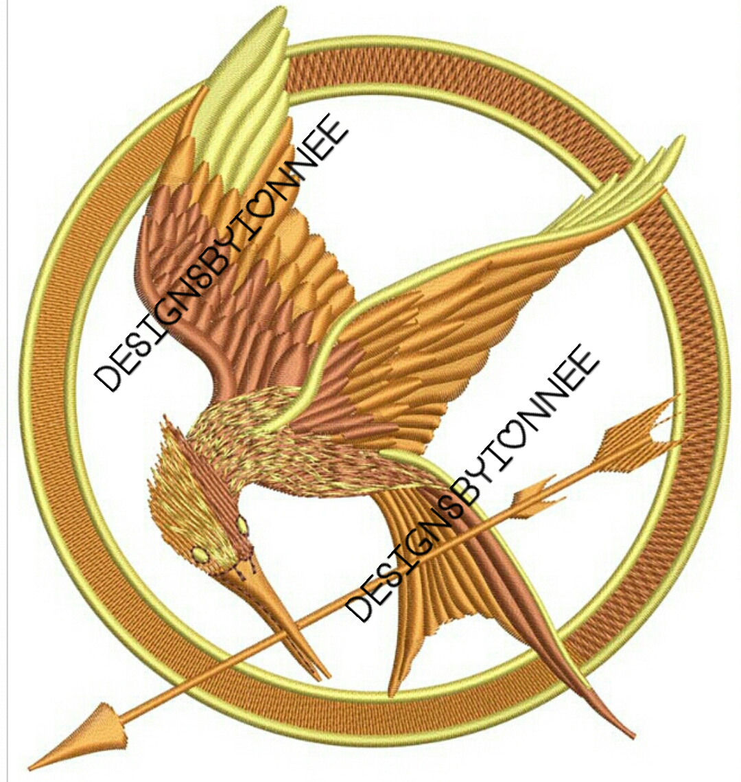 The Hunger Games Logo Embroidery Design 2 Sizes On Storenvy