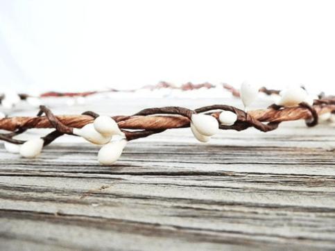 rustic hair wreath woodland ivory flower crown bridal headpiece berry wreath wedding hair