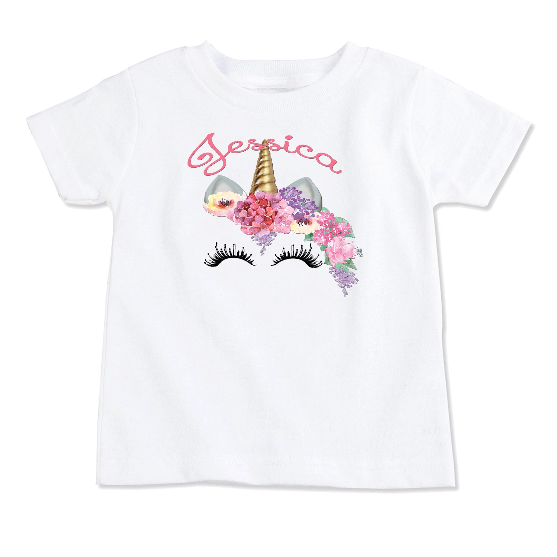 Unicorn Personalized Onesie T Shirt Top Birthday T