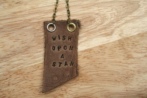 Wish Upon a Star Mantra Necklace