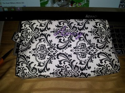 Personalized Damask Cosmetic Bag