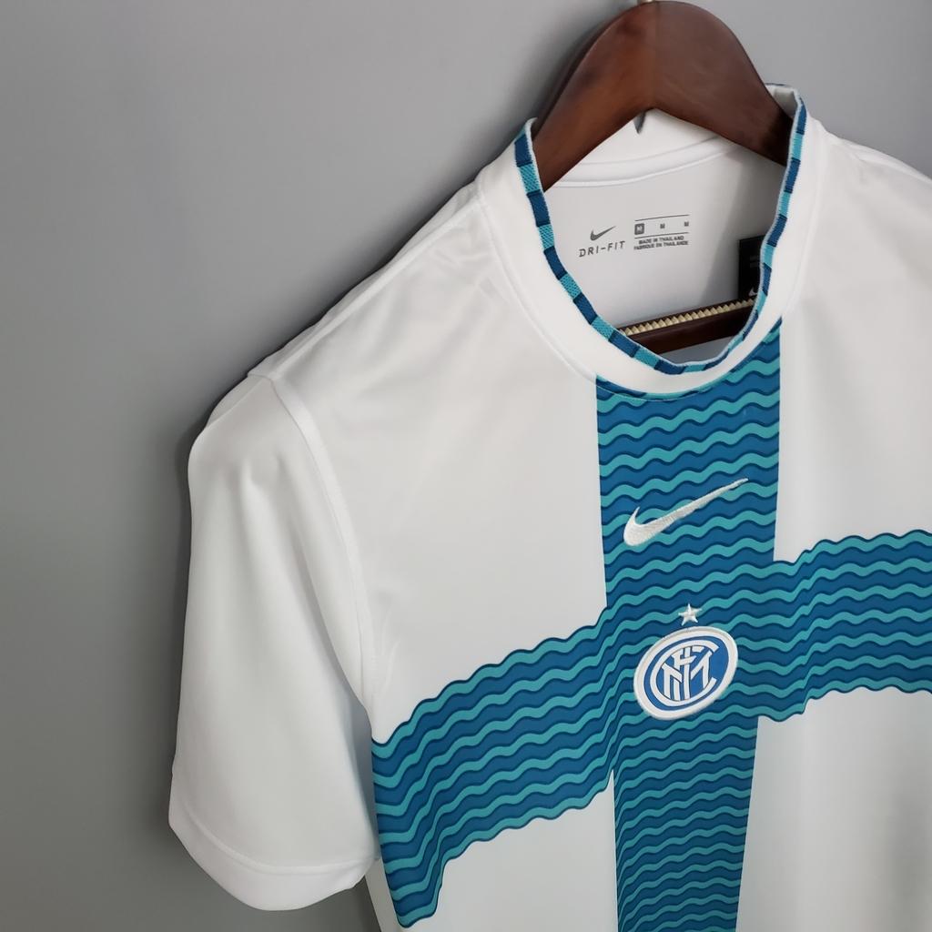 Camisa masculina inter de milão 2022, uniforme 4. Camisa Inter de Milão AWAY 2021-2022 - Dream Shop