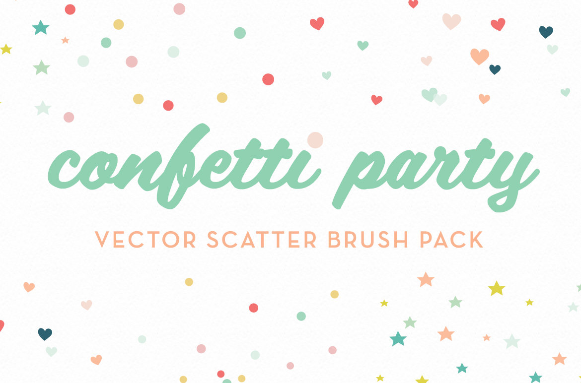 Confetti Party Scatter Brushes Brushes On Creative Market