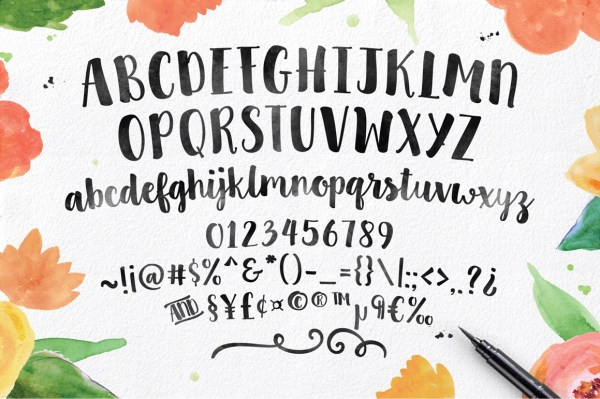 sweet pea font # 4