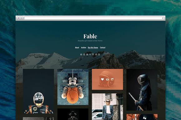 Fable tumblr theme