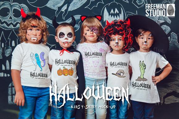 Halloween Kids T-Shirt Mock-Up - Product Mockups