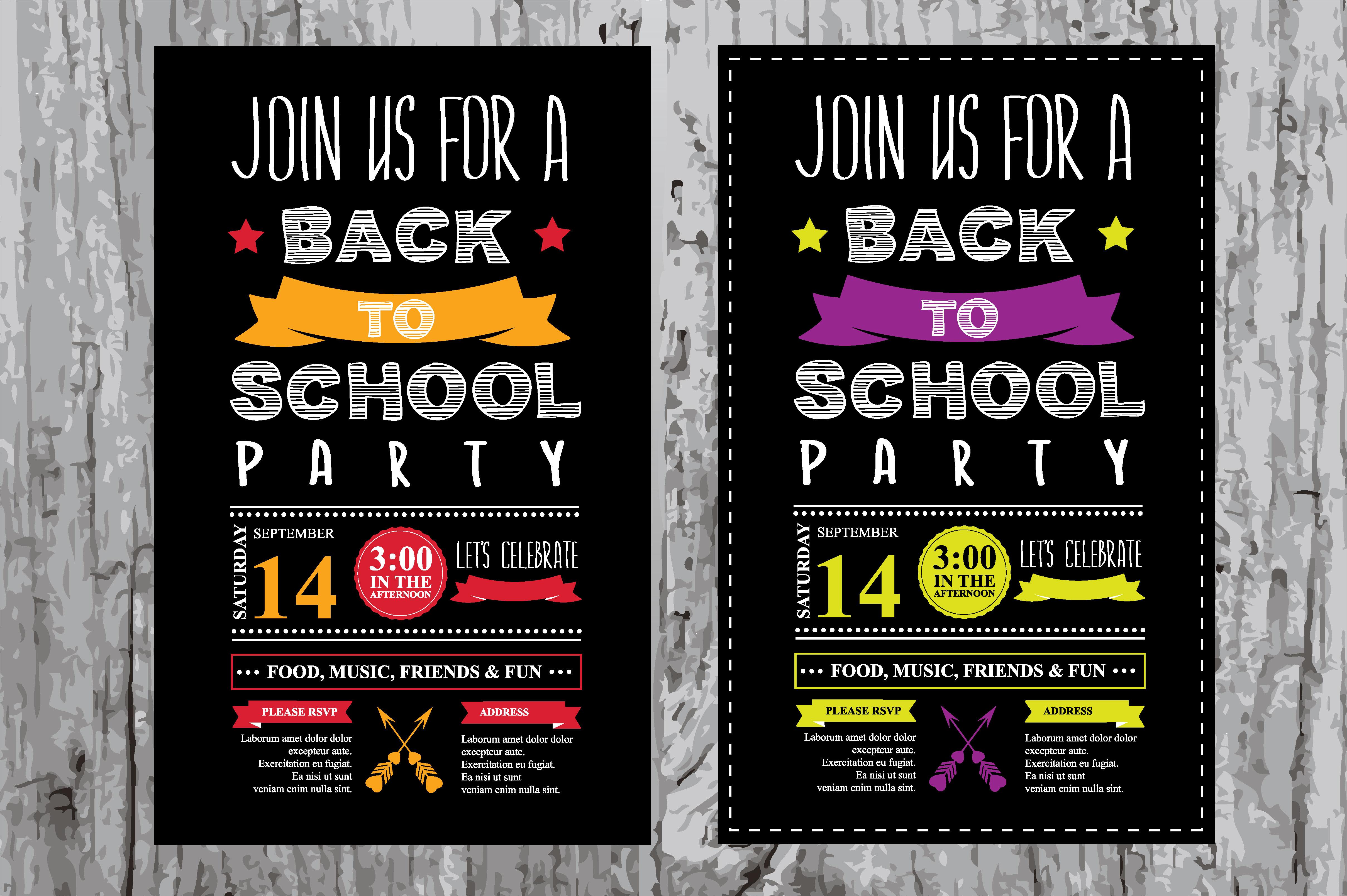 Back To School Party Invitation Invitation Templates On