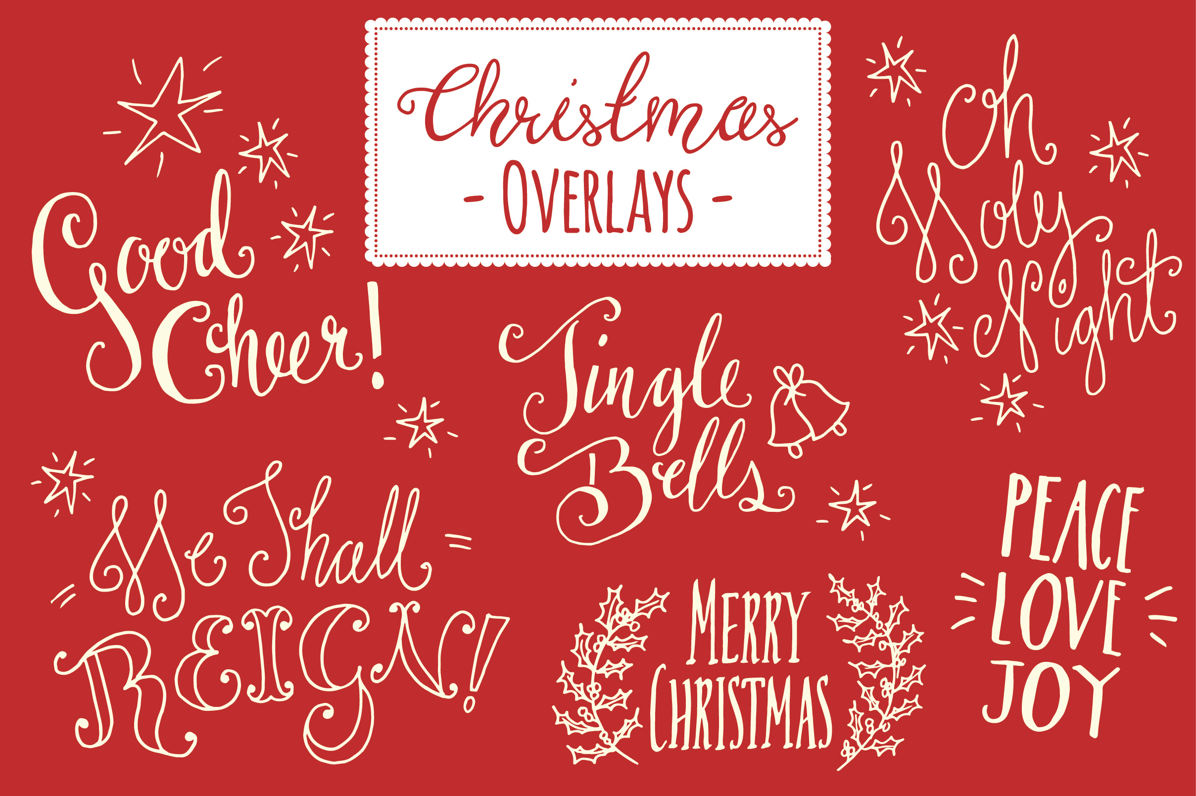 Christmas Overlays Set 5 Vector Graphics On Creative