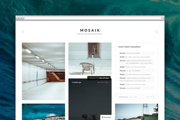 Mosaik tumblr theme
