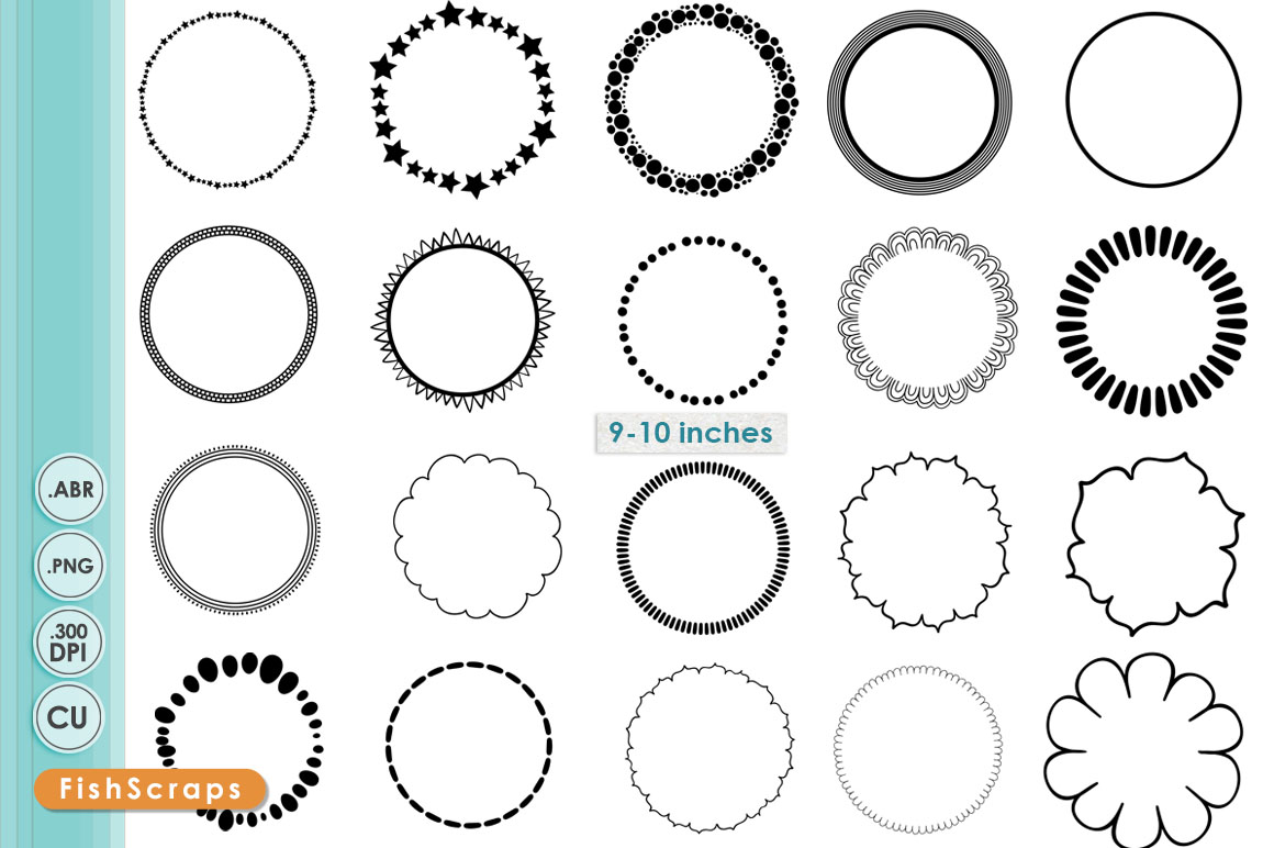 Simple Circle PNG Frames Brushes Brushes On Creative