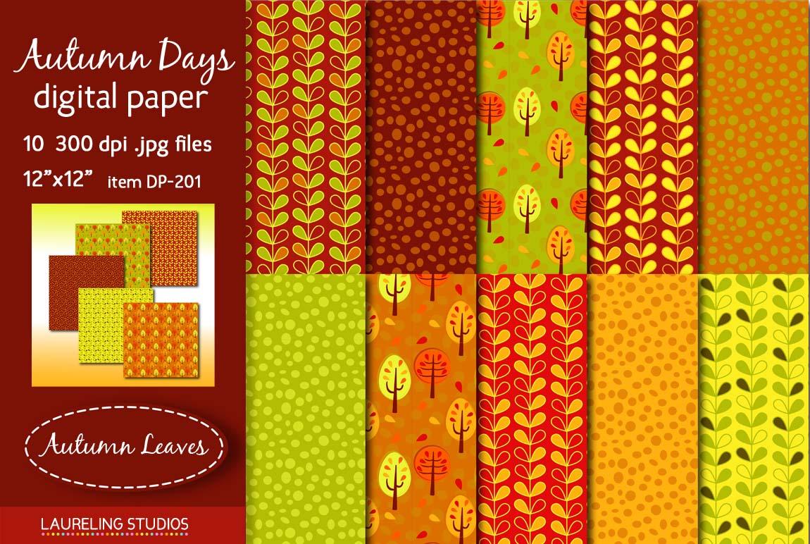 Autumn Days Digital Paper Pack Patterns On Creative Market