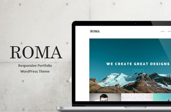 Roma - Responsive Portfolio WP Theme