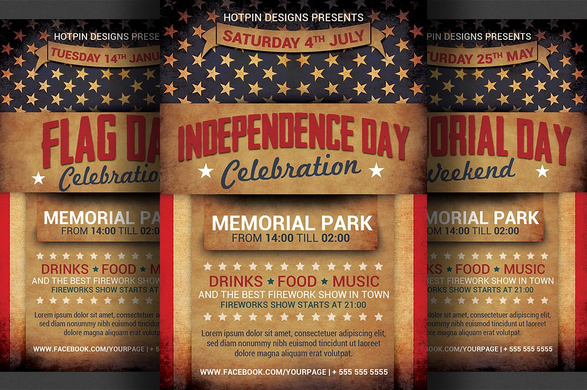 4th JulyIndependence Day Flyer Flyer Templates On Creative Market