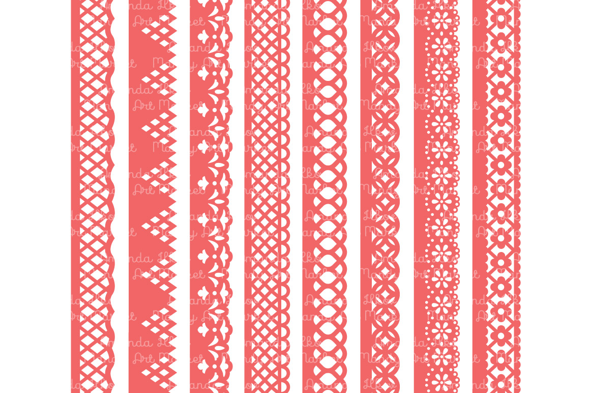 Coral Lace Borders Clipart Amp Vectors Illustrations On