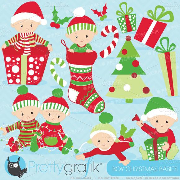 Christmas Baby Boy Clipart Illustrations On Creative Market