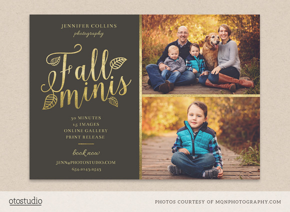 Fall Minis Marketing Board Template Flyer Templates On