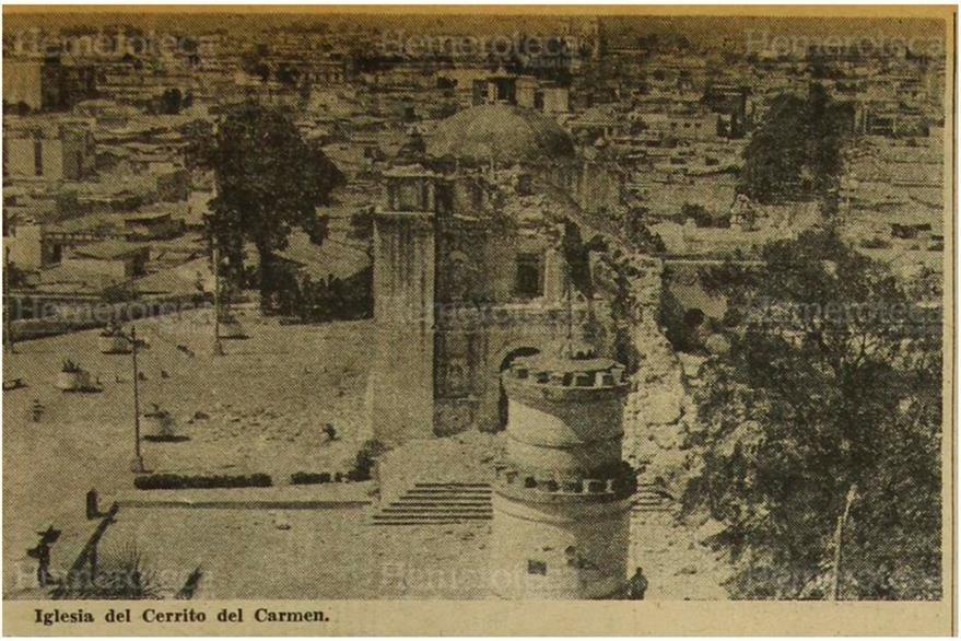Ermita del Cerro del Carmen, un templo que sufrió daños en 1976. (Foto: Hemeroteca PL)