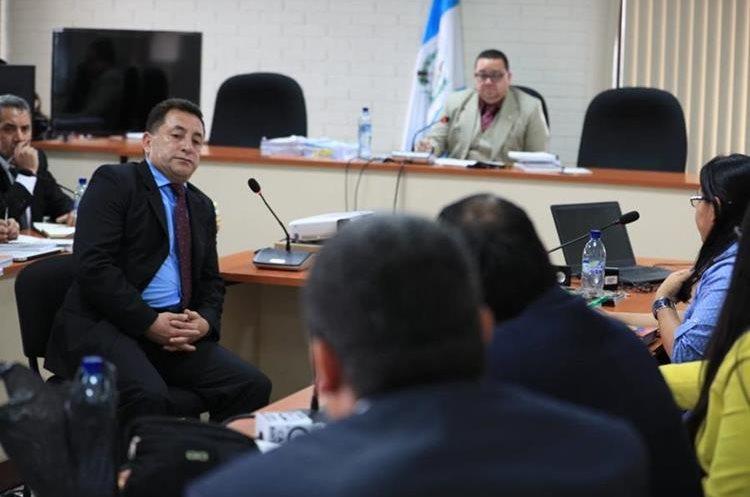 El militar negó ser parte de la estructura criminal. (Foto Prensa Libre: Carlos Hernández)