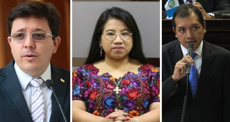 Ministros Julio Héctor Estrada, de Finanzas; Leticia Teleguario, de Trabajo, y Francisco Rivas, de Gobernación. (Foto: Hemeroteca PL)