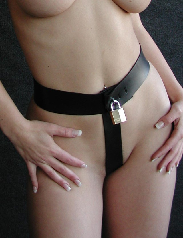 female in Strap-in Chastity Harness
