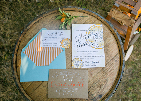 southern-wedding-orange-invitation