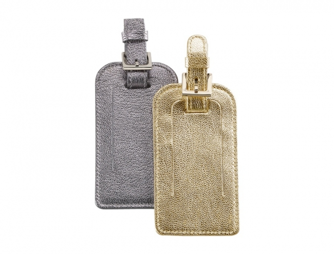 Luggage Tag  Metallics Leather