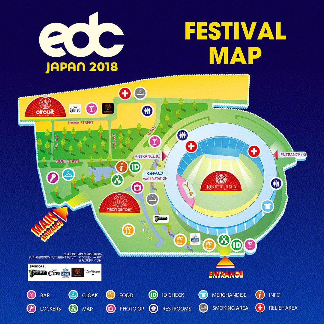 EDC Japan 2018 festival map