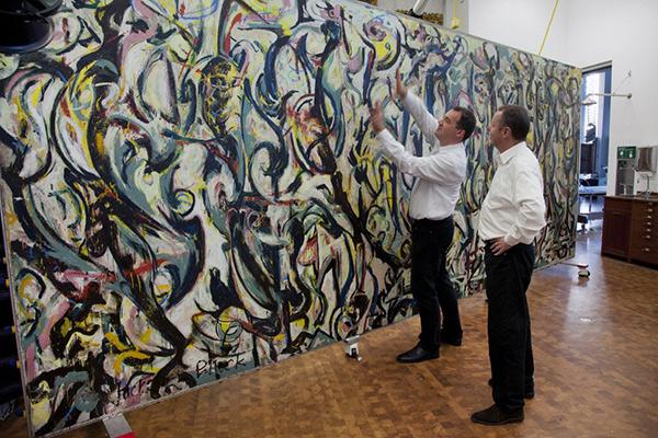 Letting Jackson Pollock S Mural Speak For Itself