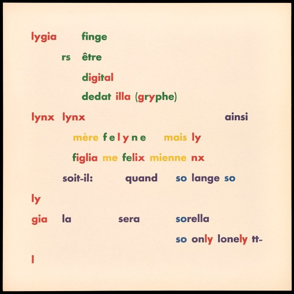 What Is Concrete Poetry The Getty Iris