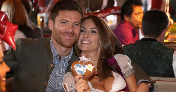 Xabi Alonso: Enjoys Oktoberfest with his wife Nagore Aramburo