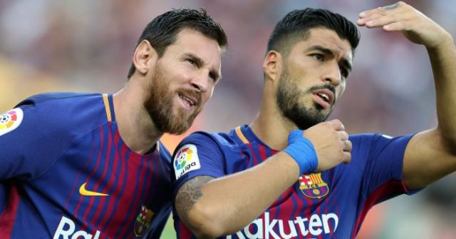 Image result for LUIS SUAREZ AND LIONEL MESSI