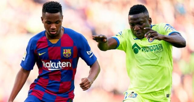 Barcelona Ansu Fati, Oghenekaro Etebo