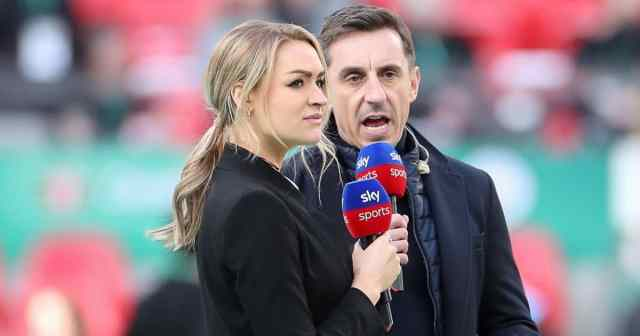 Laura Woods, Gary Neville Sky Sports