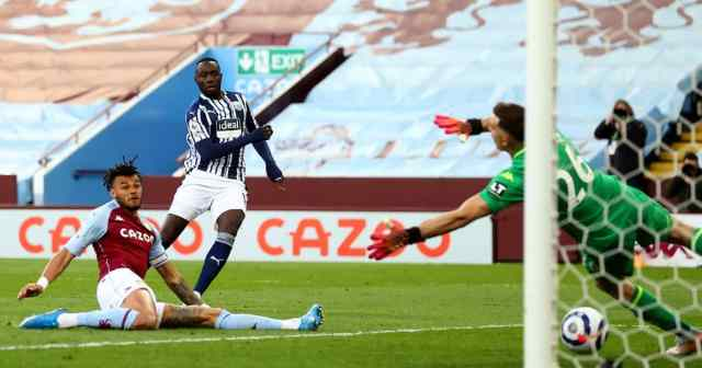 Mbaye Diagne Aston Villa v West Brom April 2021