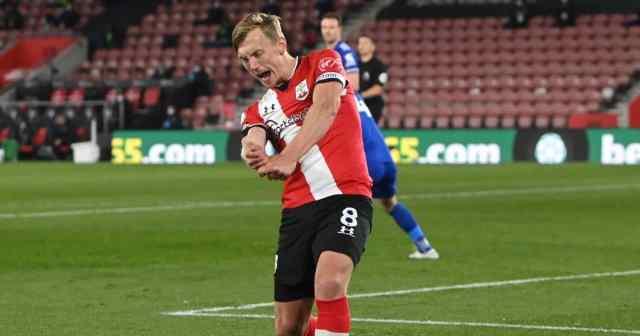 James Ward-Prowse Southampton v Leicester April 2021