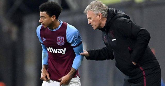 Jesse Lingard and David Moyes, West Ham 2021
