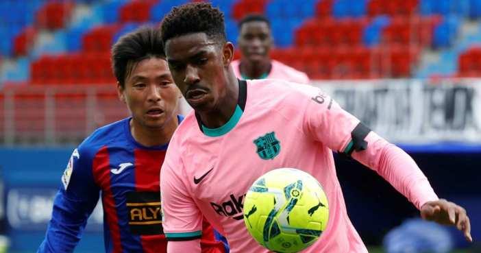 Takashi Inui, Junior Firpo, Eibar gegen Barcelona TEAMtalk