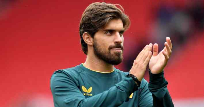 Wolverhampton Wanderers star Ruben Neves applauds the fans after the pre-season friendly match at the bet365 Stadium, Stoke-on-Trent