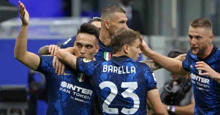 Inter Milan stars Lautaro Martinez, Edin Dzeko, Nicolo Barella and Milan Skriniar 2021
