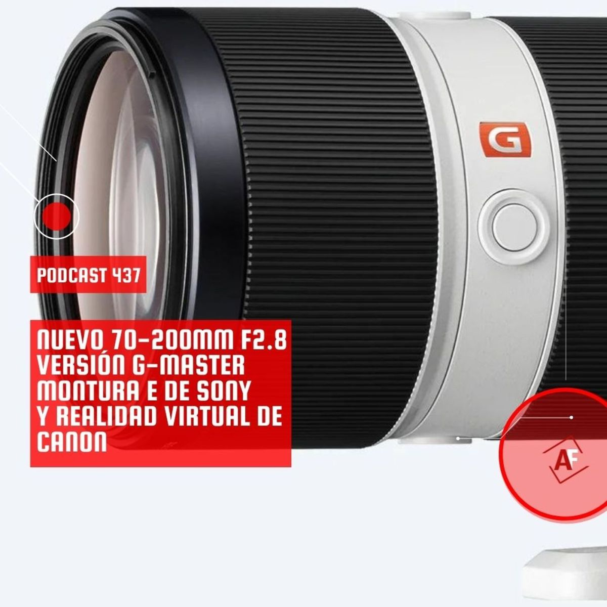 Nuevo 70-200mm f2.8 versión G-Master Montura E de Sony y realidad virtual de Canon