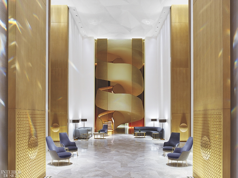 11 Stunning Spiral Staircases Interior Design Magazine   Stairs Design In Lobby   Wooden   Round   Glass   Residential   Duplex