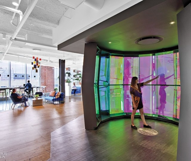Googles Nyc Office By Interior Architects Has Eye Catching Features At Every Turn