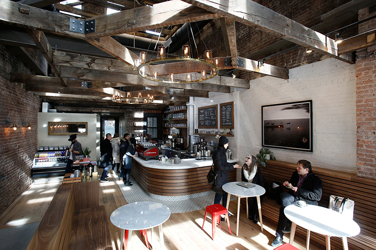 10 International Coffee Shops Toby s Estate Coffee in Long Island City by Studio Vural  Photography by  Kate Glicksberg