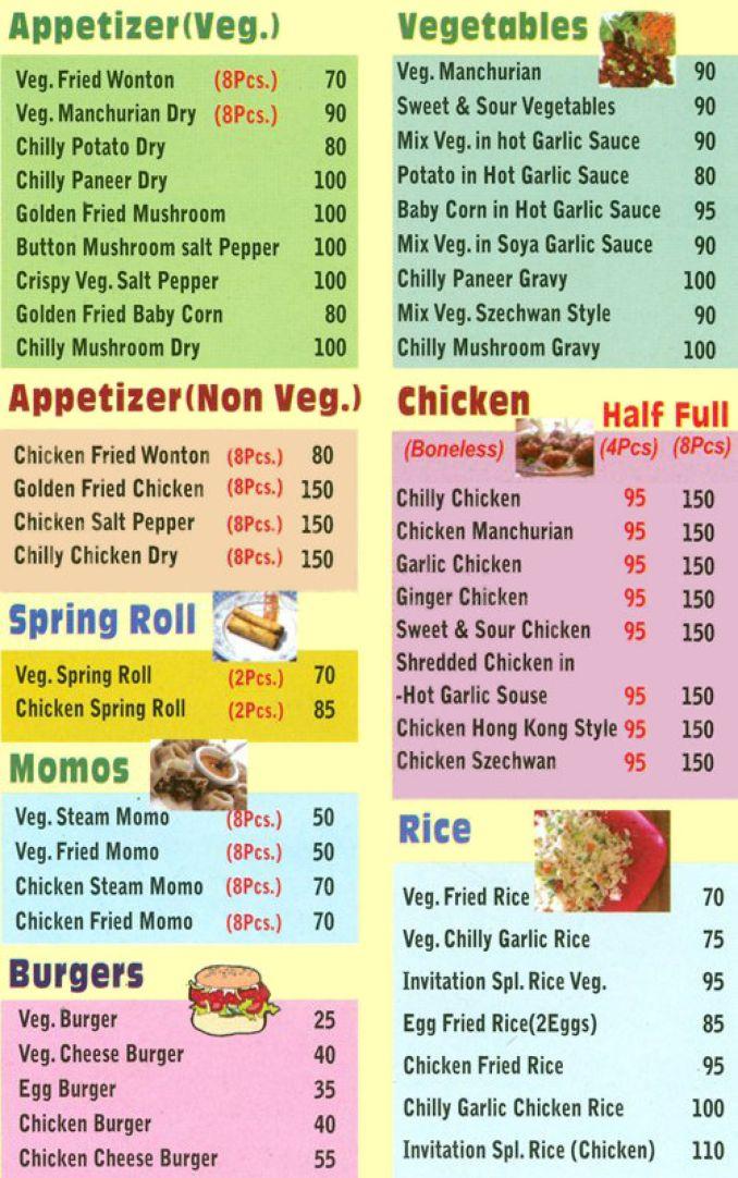 Invitation restaurant menu newsinvitation menu of the invitation stopboris Images