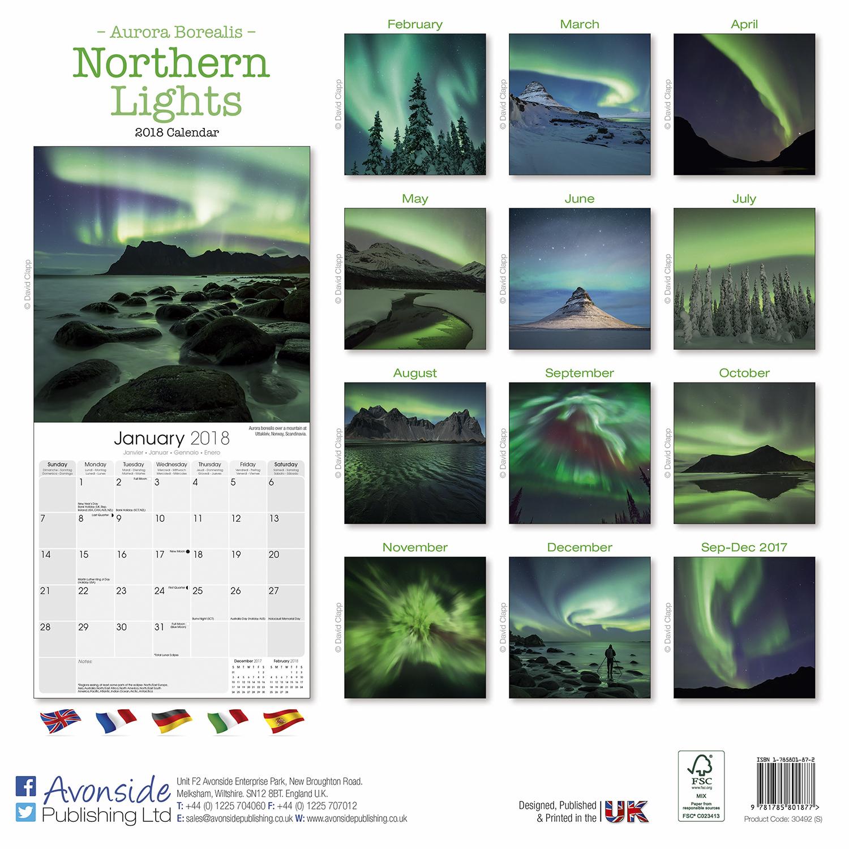 Northern Lights Calendar