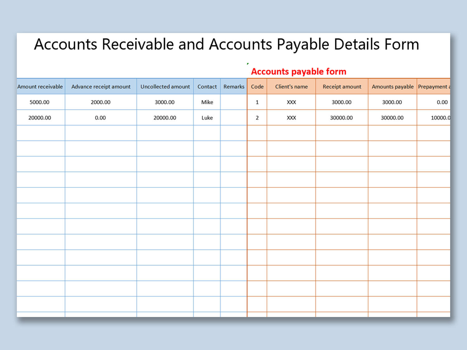Affordable Templates Accounts Payable And Receivable