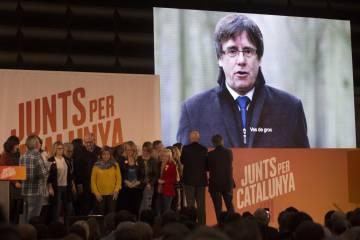 Acto de campaña de Junts per Catalunya.