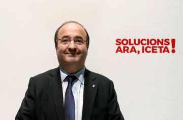 El candidato del PSC a la presidencia de la Generalitat, Miquel Iceta.