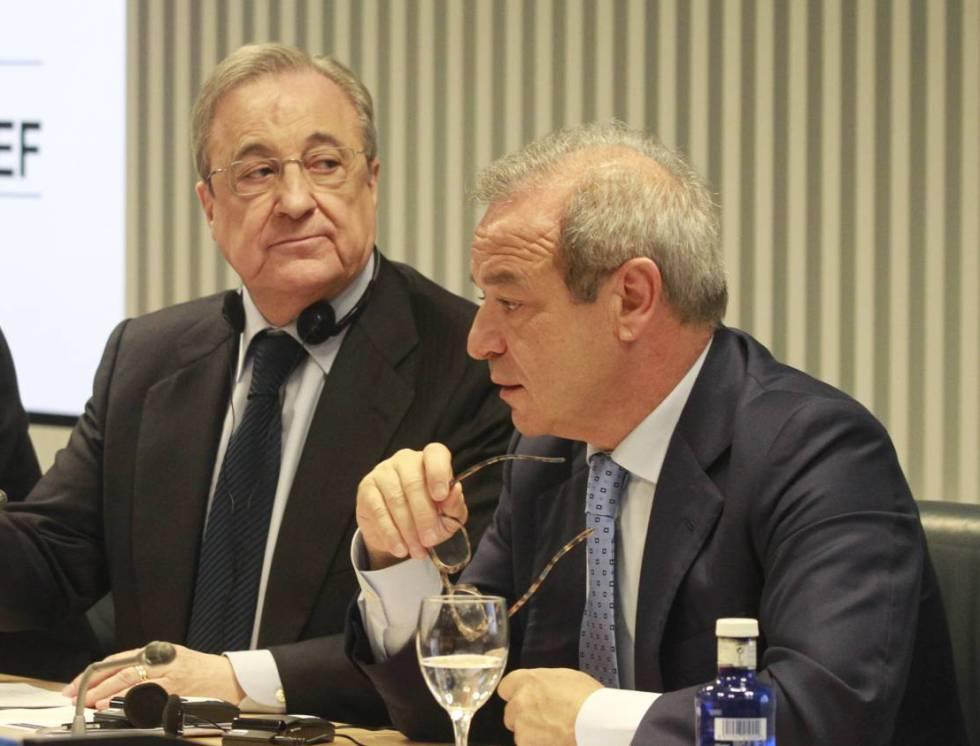 Florentino Pérez y Marcelino Fernández, presidente y CEO de ACS, respectivamente.