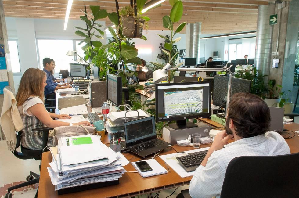 Vista interior de la compañía ubicada en un polígono empresarial de Pozuelo.